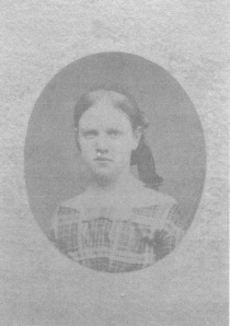 My great, great grandmother (Chloe's daughter) Frances Willson Gill, c. 1857. Frances married J.K. Gill in 1866.